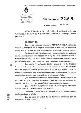 Disposición 7265 - 14