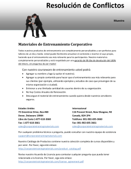 Resolución de Conflictos - Corporate Training Materials