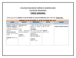 COLEGIO BILINGÜE MÉXICO AMERICANO DIVISIÓN PRIMARIA