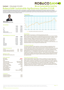 RobecoSAM Sustainable Agribusiness Equities D EUR