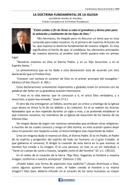 LA DOCTRINA FUNDAMENTAL DE LA IGLESIA