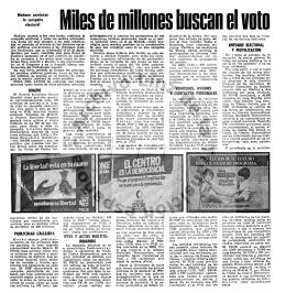 Mañano comienza la campaña electoral DINERO PUBLICIDAD