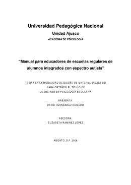 Manual para educadores de escuelas regulares de alumnos