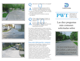 PWT Paving Brochure SPANISH