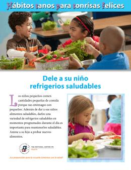 Hábitos sanos para sonrisas felices: dele a su niño refrigerios