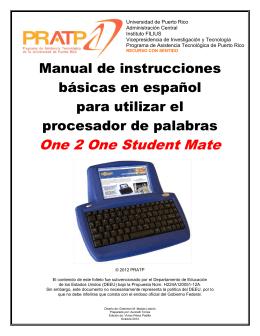 One 2 One Student Mate - Programa de Asistencia Tecnológica de