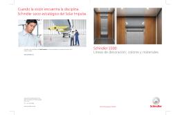 Brochure Schindler 3300 Interiores