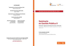 Folleto Seminario Gestion Publica II.indd