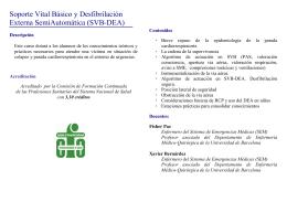 FOLLETO SVB-DEA - Colegio Oficial de Enfermería de Huesca