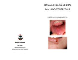 folleto enfermedades comunes de cavidad oral
