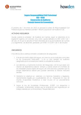 Seguro Responsabilidad Civil Profesional REA + REGA