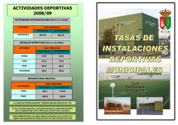folleto tasas 2 - Ayuntamiento de Quer