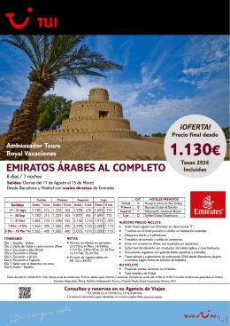 1.130€ - Viatges Feliptur