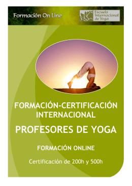 Programa General - Formación de Yoga Online