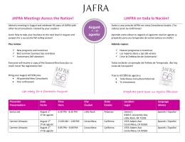 JAFRA Meetings Across the Nation! ¡JAFRA en toda la