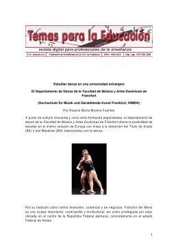 1 Estudiar danza en una universidad extranjera El Departamento de