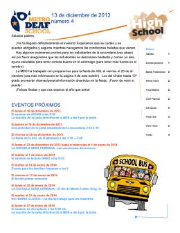 HS Newsletter 12.2013 español