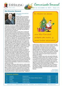 Newsletter Dec 6 - St.Hildas College, Argentina