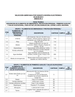 PROYECTO DE PLIEGO DE CONDICIONES