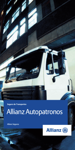 Folleto Autopatronos - Allianz seguro seguros