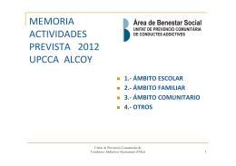 memoria actividades prevista 2010 upc alcoy