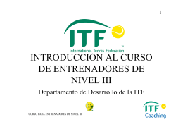 (Microsoft PowerPoint - Nivel 3 Introducci\363n al curso.ppt)