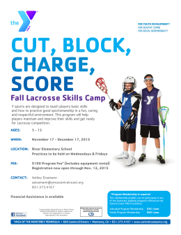 Fall Lacrosse Skills Camp