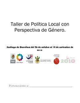 taller de política local con perspectiva de género