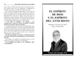 el espíritu de dios y el espíritu del anticristo
