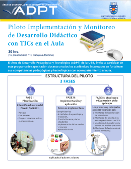Folleto explicativo del Piloto de Implementación y Monitoreo