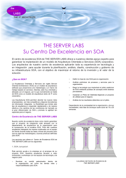 THE SERVER LABS Su Centro De Excelencia en SOA