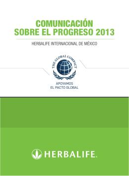 COMUNICACIÓN SOBRE EL PROGRESO 2013