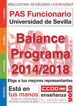 Folleto Balance Prog.. - Sección Sindical CC.OO. Universidad de