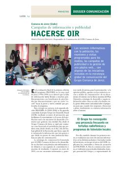 Comarca de Jerez (Cádiz): campañas de información y publicidad