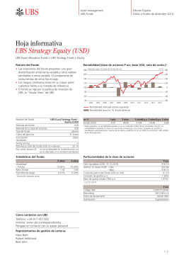 Hoja informativa UBS Strategy Equity (USD)