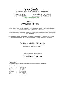 Catálogo 82 MUSICA HISPÁNICA