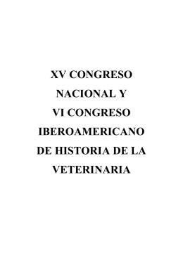 xv congreso nacional y vi congreso iberoamericano de