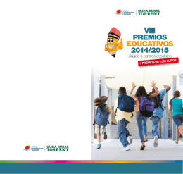 Folleto de los VIII premios educativos 2014/2015 (PDF 198 KB.)