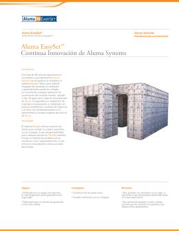 Continua Innovación de Aluma Systems Aluma EasySet™