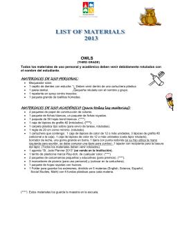 MATERIALES DE USO PERSONAL: MATERIALES