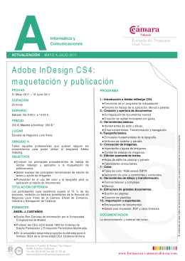 Adobe InDesign CS4: maquetación y publicación