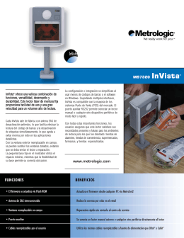 MS7320 InVista® www.metrologic.com