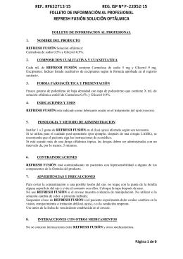 FOLLETO DE INFORMACION AL PROFESIONAL 1. NOMBRE DEL