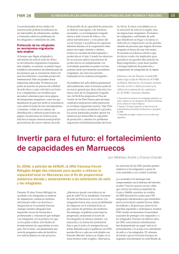 Invertir para el futuro - Forced Migration Review