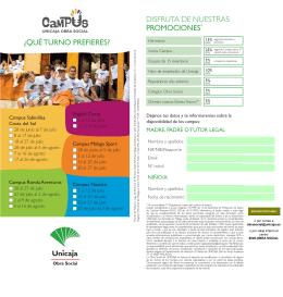 Folleto Campus Preferencia 2014 Pdf Rellenable