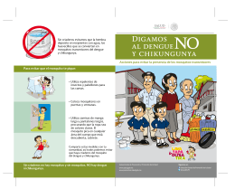 "Folleto ""Digamos no al dengue y chikungunya"""