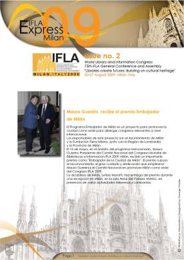 Mauro Guerrini recibe el premio Embajador de Milán