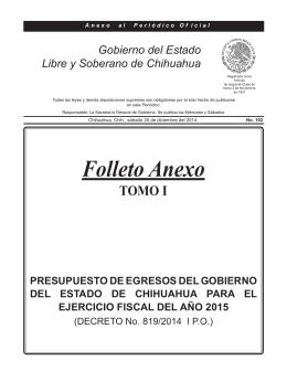 Folleto Anexo - Gobierno del Estado de Chihuahua