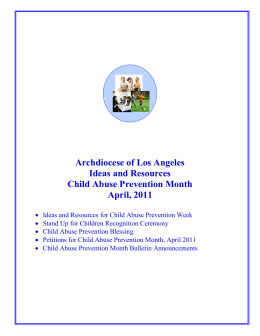 Archdiocese of Los Angeles Ideas and Resources Child Abuse