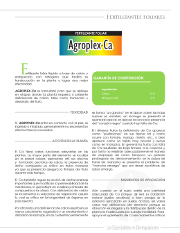 Folleto Agroplex Ca